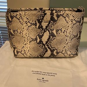 KATE SPADE EMERSON SNAKE EMBOSSED LORIE BAG